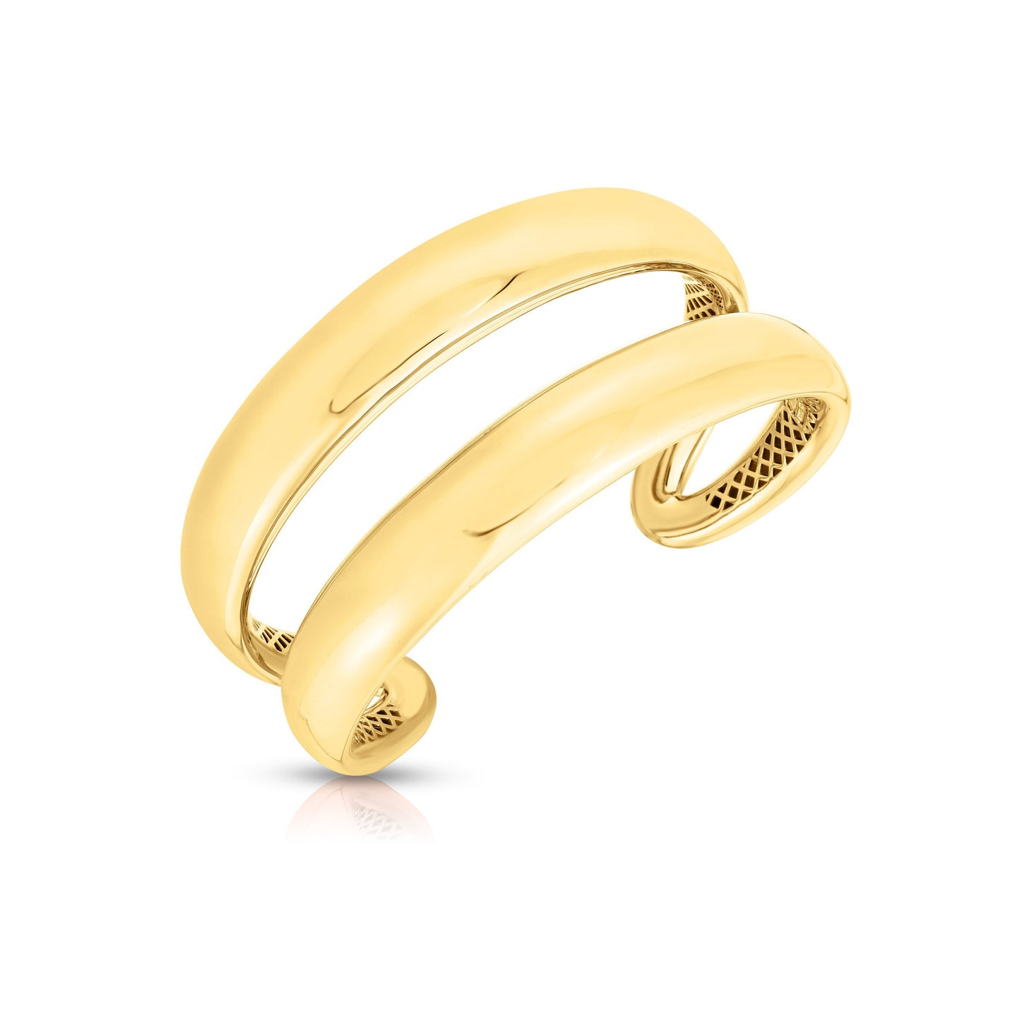 Roberto Coin Oro Classic 18K Yellow Gold Double Row Bangle