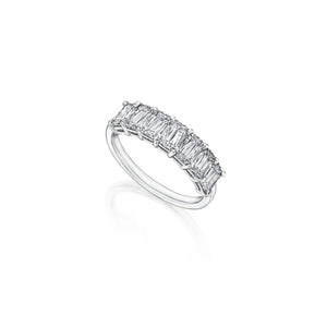 Fink's Platinum ASHOKA® Diamond Seven Stone Wedding Band