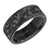 Load image into Gallery viewer, Triton Men's 8mm Black Tungsten and Black Carbon Fiber Comfort Fit Band