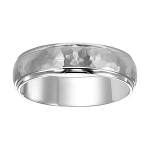 Fink's Men's 6mm Hammered Textured Palladium Band