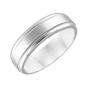 Diana Men's 6.5mm Platinum Brushed Wedding Band