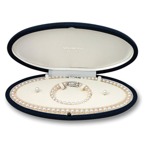 Mikimoto Necklace, Bracelet, and Earring Set