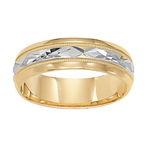 Fink's Men's 6mm 14K Two-Tone Comfort Fit Wedding Band