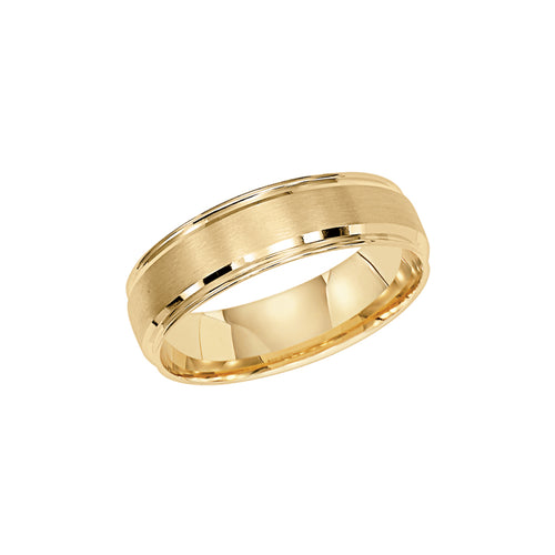Fink's Men's 6mm 14K Yellow Gold Engraved Wedding Band