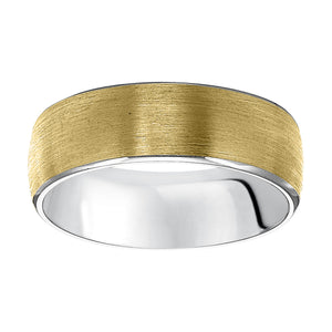 Fink's Men's 7mm Two-Tone Engraved Satin Band