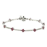 Sabel Collection 18K White Gold Diamond and Ruby Bracelet