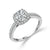 Load image into Gallery viewer, Fink's Exclusive 14K White Gold Cushion and Round Diamond Halo Engagement Ring