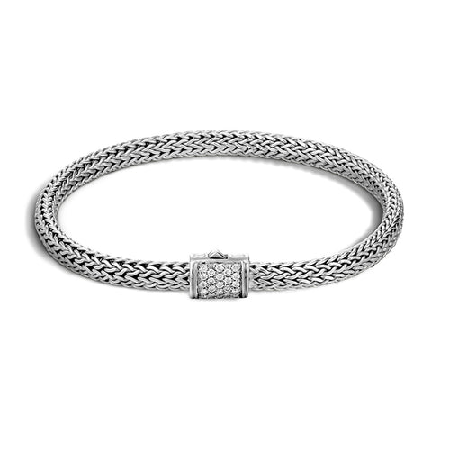 John Hardy Classic Chain 5mm Bracelet with Diamond Clasp