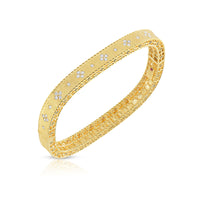 Roberto Coin Princess Diamond 18K Yellow Gold Bangle