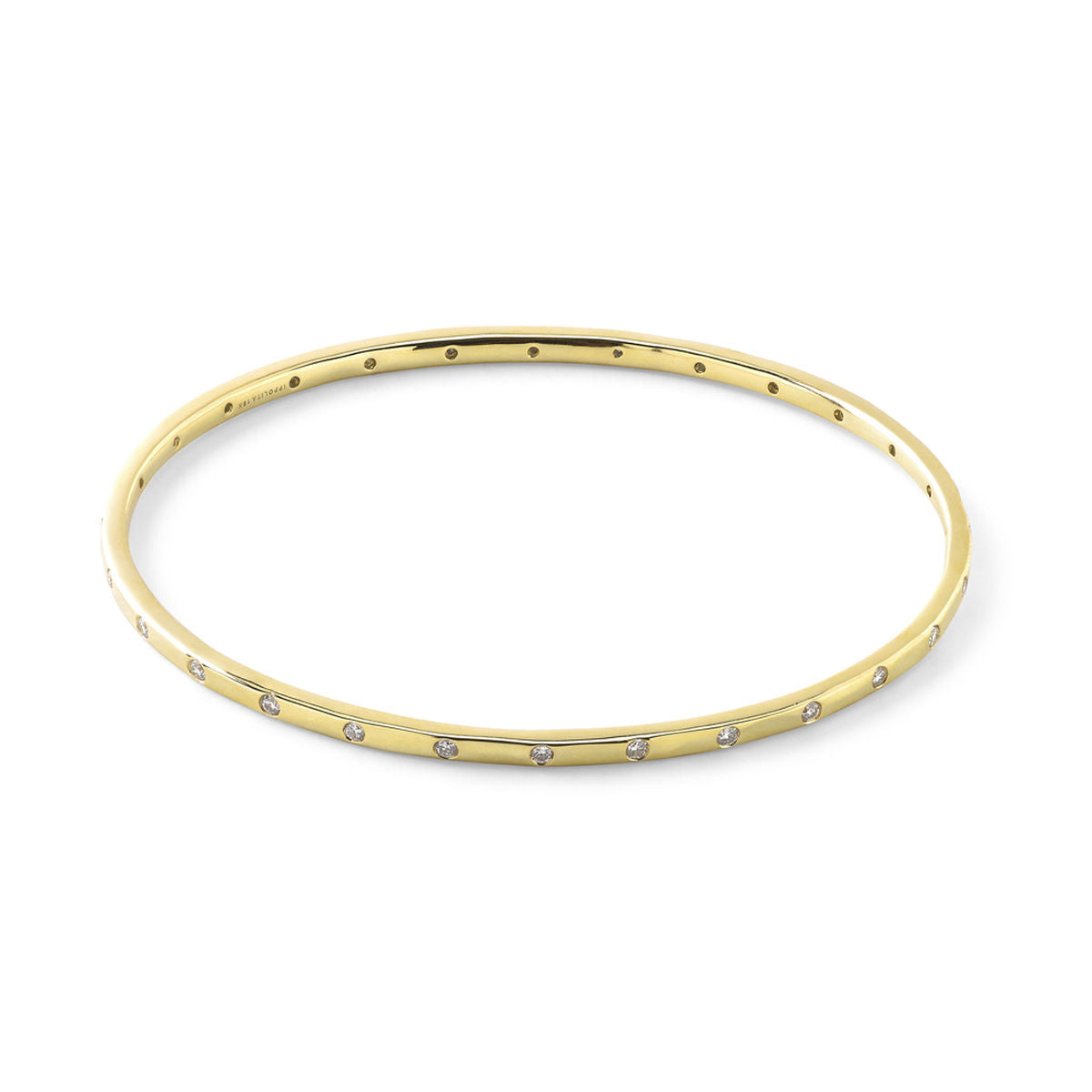 IPPOLITA Senso™ 18K Yellow Gold Thin Diamond Bangle