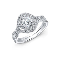 Forevermark 18K White Gold Cushion Cut Diamond Engagement Ring