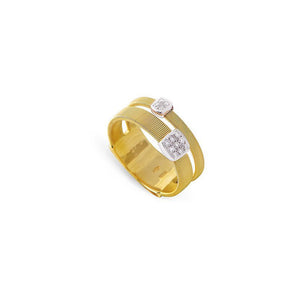 Marco Bicego Masai 18K Yellow Gold Diamond Station 2 Strand Ring