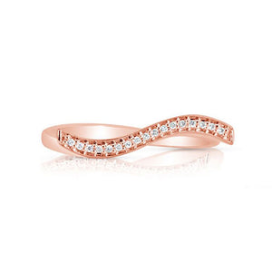 Marco Moore 14K Rose Gold Wavy Diamond Band