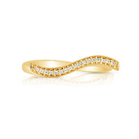 Marco Moore 14K Yellow Gold Wavy Diamond Band
