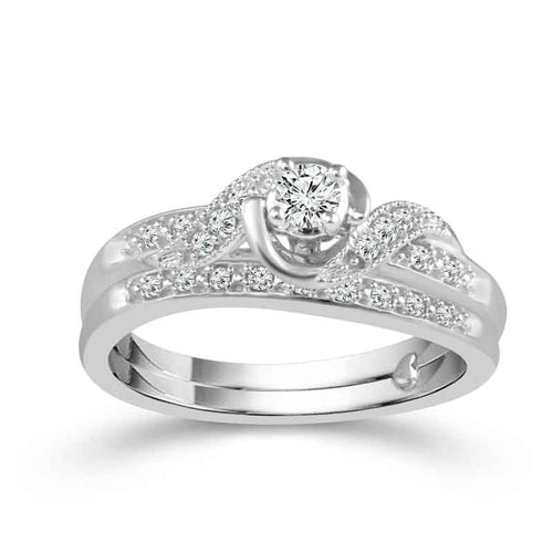 Fink's Exclusive Round Twist Engagement Ring Set