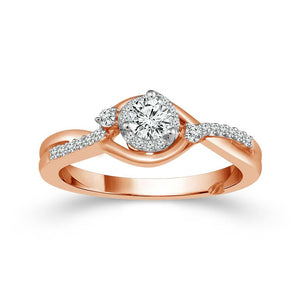Fink's Exclusive Round Halo Engagement Ring Set
