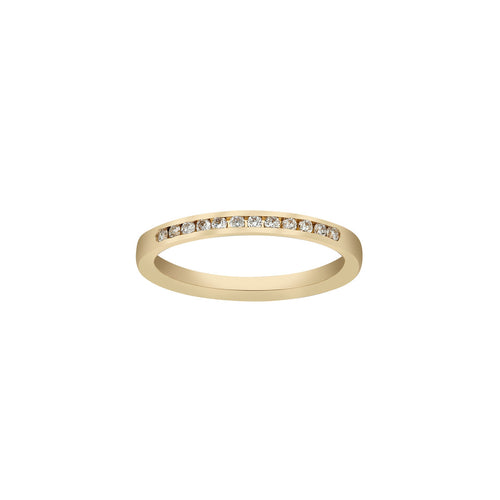 Fink's 18K Yellow Gold 12 Diamond Channel Band