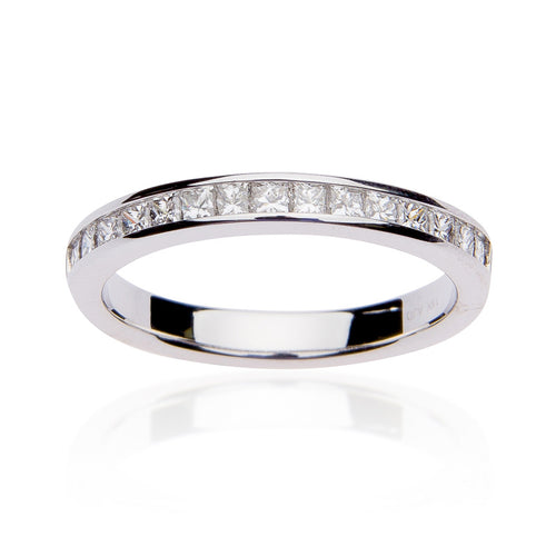 Fink's 14K White Gold Princess Cut Diamond Channel Wedding Band
