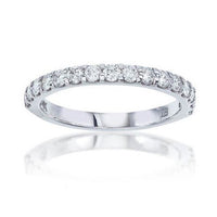 Fink's 14K White Gold Round Diamond Prong Set Wedding Band