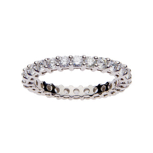 Fink's Platinum Prong Set 26 Round Diamond Eternity Wedding Band