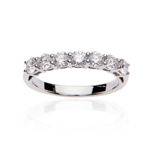 Fink's 7 Round Prong Set Diamond Band