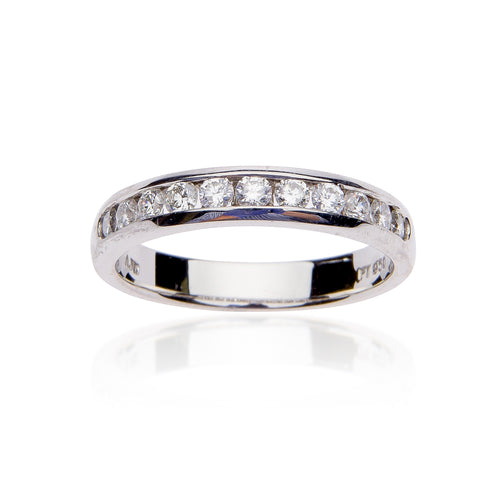 Fink's 11 Round Channel Set Narrow Diamond Band