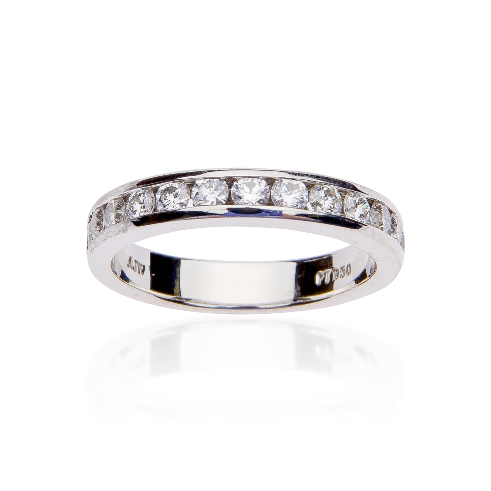 Fink's Platinum Channel Set 14 Round Diamond Wedding Band