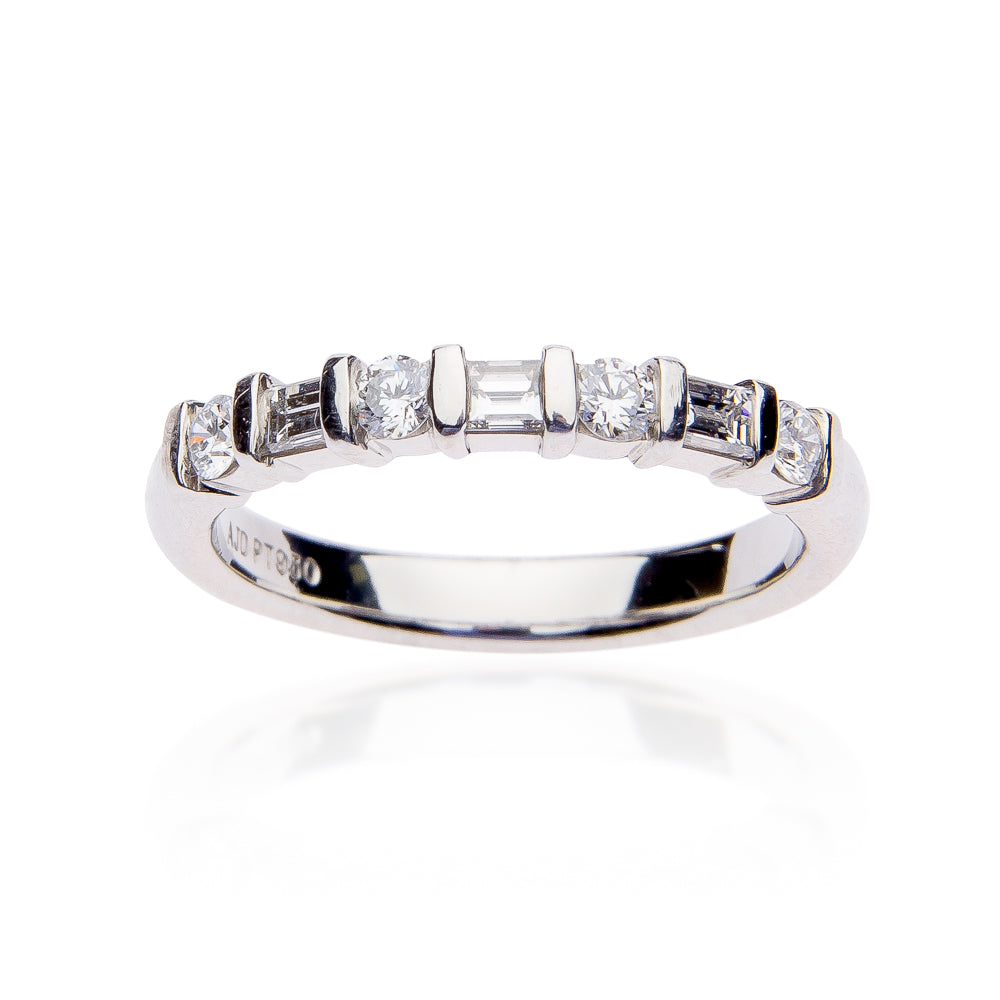Fink's Platinum Bar Diamond Wedding Band