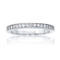 Fink's Platinum Round Diamond Milgrain Wedding Band