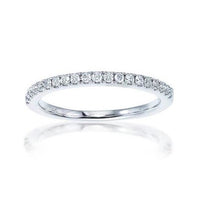 Fink's 14K White Gold Diamond Pavé Wedding Band