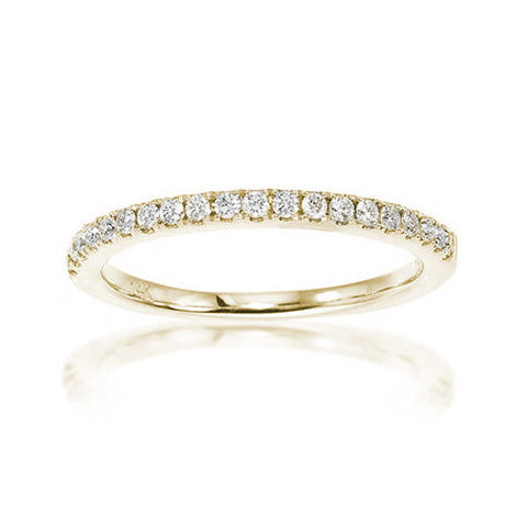 Fink's 14K Yellow Gold Diamond Pavé Wedding Band