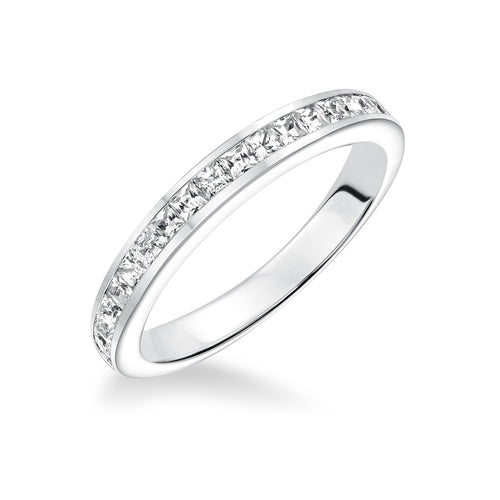 Fink's 14K White Gold Princess Cut Channel Set Wedding Band