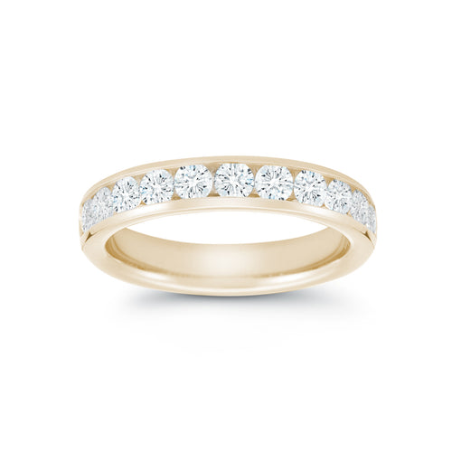 Fink's 18K Yellow Gold Channel Set Diamond Wedding Band