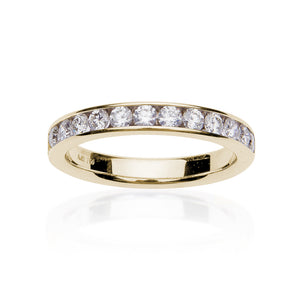 Fink's 18K Yellow Gold Round Diamond Channel Set Wedding Band