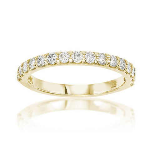 Fink's 14K Yellow Gold Diamond Prong Set Wedding Band