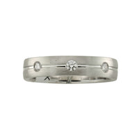 Fink's Men's 18K White Gold 8 Stone Wedding Band