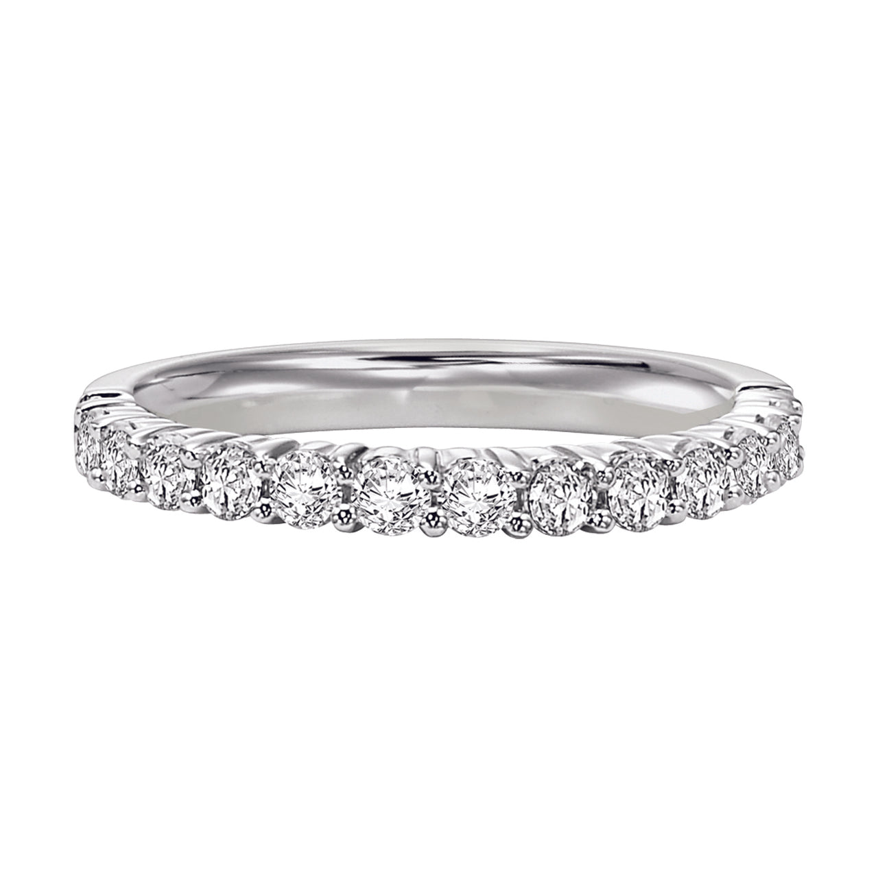 Fink's 14k White Gold 13 Stone Shared Prong Wedding Band €� Jewelers: Shared Prong Pave Wedding Band At Reisefeber.org
