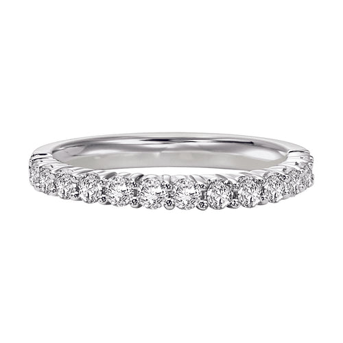 Fink's 14K White Gold 13 Stone Shared Prong Wedding Band