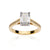 Load image into Gallery viewer, Fink's Exclusive 18K Yellow Gold Emerald Cut Diamond Engagement Ring
