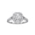 Load image into Gallery viewer, Fink's Exclusive Emerald Cut Engagement Ring with a Double Halo and Split Shank