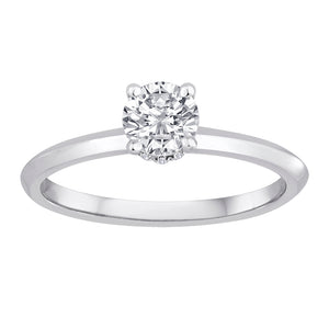 Fink's Exclusive 14K White Gold Diamond Engagement Ring with Round Diamond Bolero
