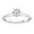 Load image into Gallery viewer, Fink's Exclusive 14K White Gold Diamond Engagement Ring with Round Diamond Bolero