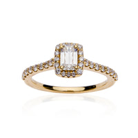 Fink's Exclusive 18K Yellow Gold ASHOKA® Diamond Halo Engagement Ring