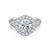 Load image into Gallery viewer, Fink's Exclusive Platinum Round Center Stone Halo Engagement Ring