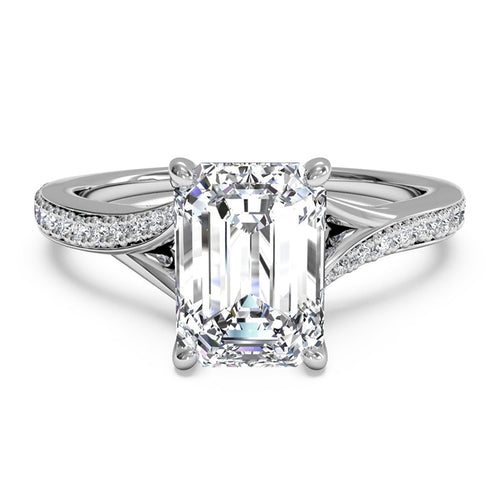 Forevermark 18K White Gold Emerald Cut Engagement Ring