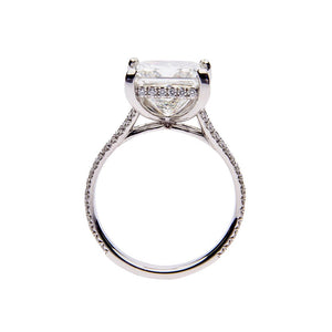 Fink's Exclusive Platinum Princess Cut Diamond Split Shank Engagement Ring