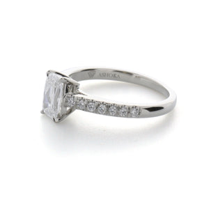 Fink's Platinum ASHOKA® Diamond Shank Engagement Ring
