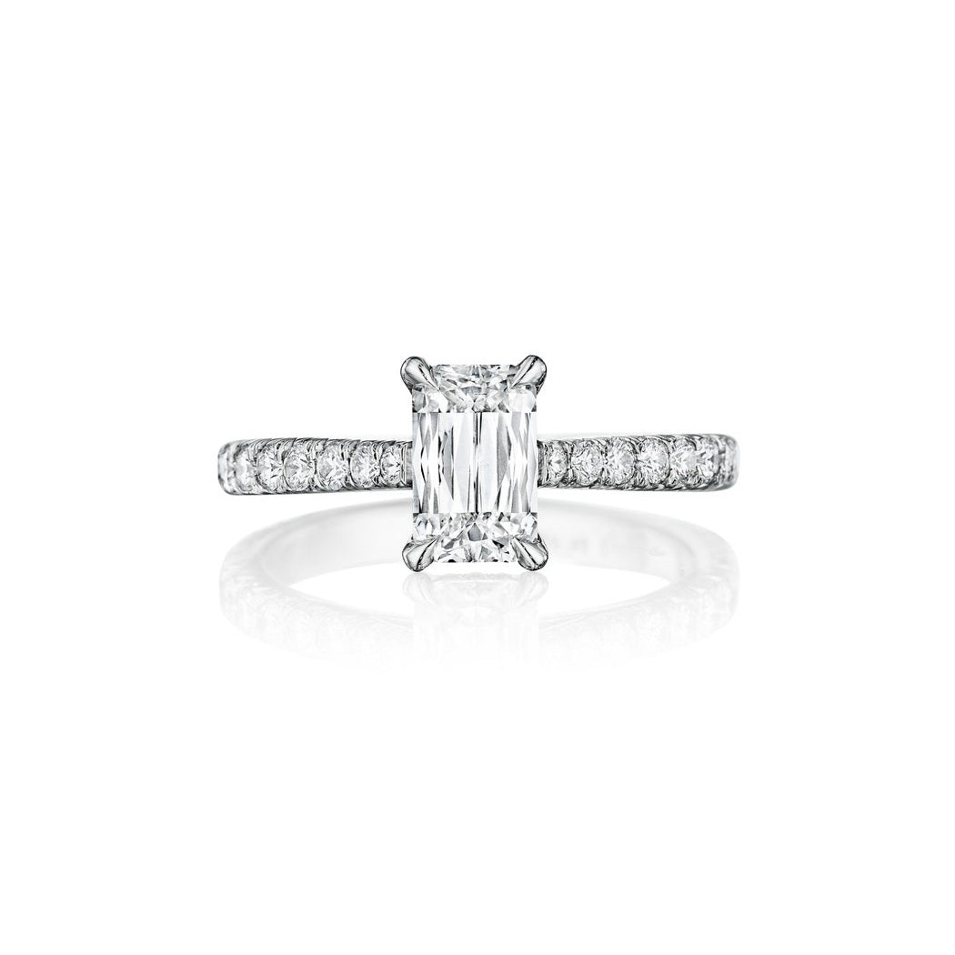 Fink's Platinum ASHOKA® Diamond Center Stone Engagement Ring