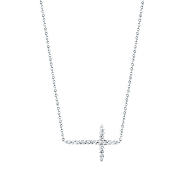 Roberto Coin Tiny Treasures Sideways Cross Pendant