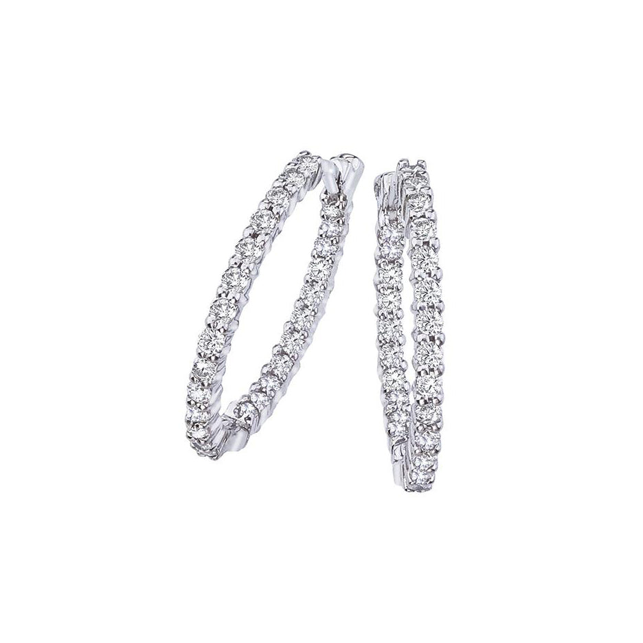 Roberto Coin Perfect Diamond Hoops Small Diamond Hoop Earrings